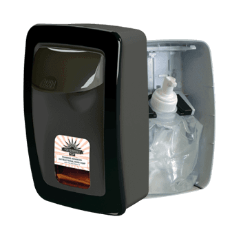 RJ Schinner PP8900F-EA Performance Plus Manual Soap Dispenser Black with Black Trim