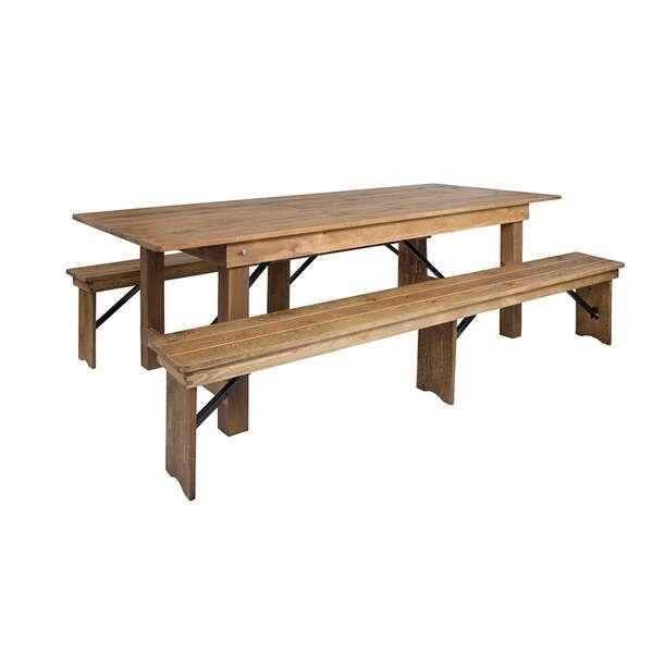 Riverstone Restaurant Furniture RF-RR39943 Hercules Series Folding Farm Table Set