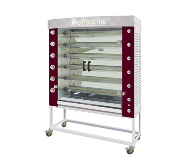 Rotisol USA FB1400-6G-SSP FlamBoyant Infrared Rotisserie Oven
