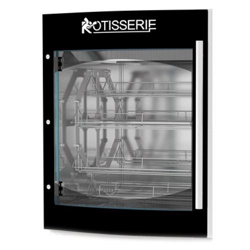 Rotisol USA GLBS8720 Complete Front or Back Door with Convex Double-Glazed Glass for Star Clean SC8.720 or Roti-Roaster FBP8.720