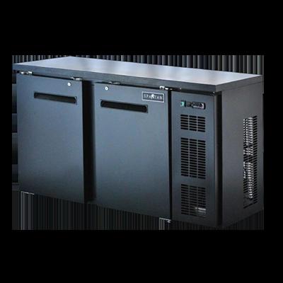 Spartan Refrigeration SBBB-58-SL Black 2 Solid Door Refrigerated Back Bar Storage Cabinet, 110 Volts