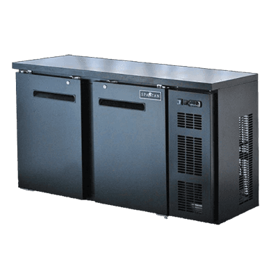 Spartan Refrigeration Spartan Refrigeration SBBB-58-SL Black 2 Solid Door Refrigerated Back Bar Storage Cabinet, 110 Volts