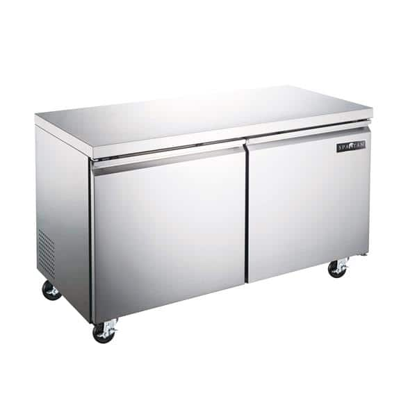 Spartan Refrigeration Spartan Refrigeration SUF-48 47.25'' 2 Section Undercounter Freezer with 2 Left/Right Hinged Solid Doors and Side / Rear Breathing Compressor