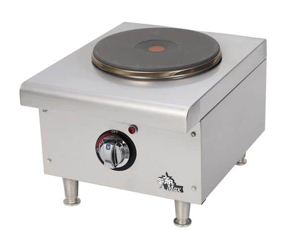 Star Mfg. 501FF Star-Max 1 Element Electric 2.6 kW French Top Countertop Hotplate