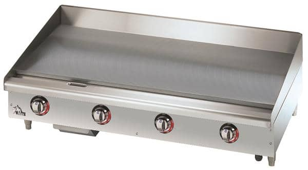 Star 548TGF Star-Max® 48'' Stainless and Aluminized Steel Countertop Electric Griddle with Thermostatic Controls, 208-240 Volts