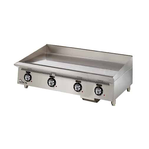 Star 848TA Ultra-Max® 48'' Stainless Steel Countertop Gas Griddle with Thermostatic Controls - 120,000 BTU