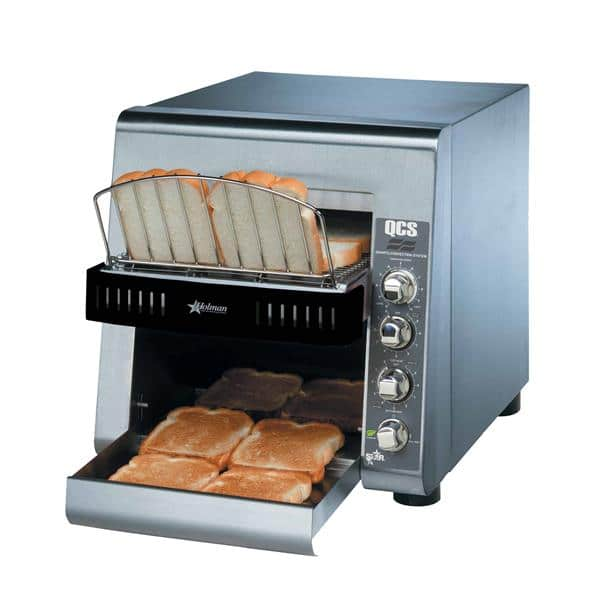 """Star Star QCS2-500 Conveyor Toaster, Horizontal with 1-1/2"""" Opening and Infinite Controls - 120 Volts, 1700 Watts, 350 Slices Per Hour"""