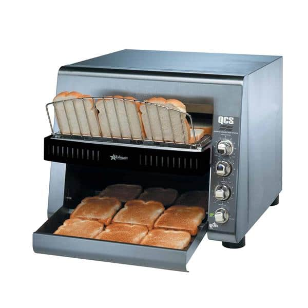 """Star Star QCS3-1300 Conveyor Toaster, Horizontal with 1-1/2"""" Opening and Infinite Controls - 208 Volts, 3600 Watts, 1300 Slices Per Hour"""