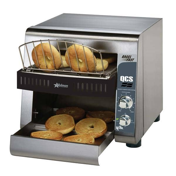 """Star Star QCS1-500B Conveyor Toaster, Horizontal with 1-1/2"""" Opening and Analog Controls - 120 Volts, 1600 Watts, 500 Slices Per Hour"""
