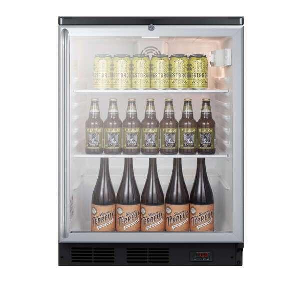 Summit Commercial SCR600BGLDTPUBSH Refrigerated Craft Beer & Wine Merchandiser