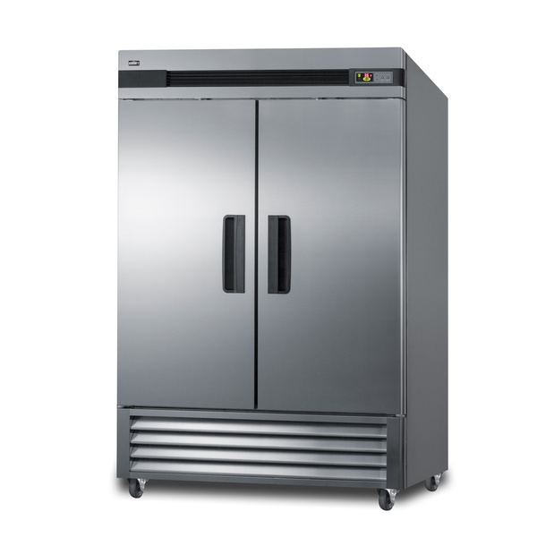 Summit Commercial SCRR492 55.25'' 2 Section Door Reach-In Refrigerator