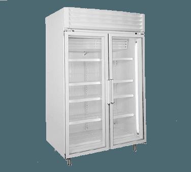 Global Refrigeration T50LGP 52'' 49.1 cu. ft. 2 Section Silver Glass Door Merchandiser Freezer