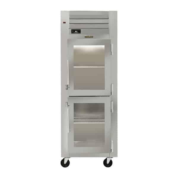 Traulsen AHT126WUT-HHG 29.88'' 19.1 cu. ft. Top Mounted 1 Section Glass Half Door Reach-In Refrigerator