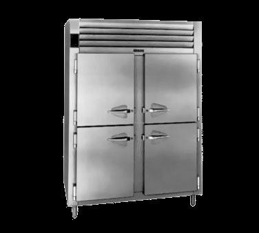 Traulsen Traulsen AHT232NUT-HHS 52.13'' 46 cu. ft. Top Mounted 2 Section Solid Half Door Reach-In Refrigerator