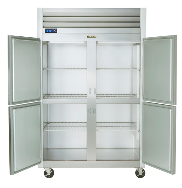 Traulsen G20001 52.13'' 46 cu. ft. Top Mounted 2 Section Solid Half Door Reach-In Refrigerator