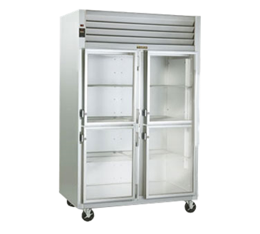 Traulsen G21002R Dealer's Choice two-section Glass Door Refrigerator