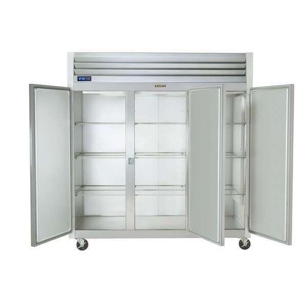 Traulsen G30002-032 76.31'' 69.1 cu. ft. Top Mounted 3 Section Solid Half Door Reach-In Refrigerator