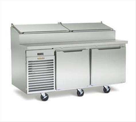 Traulsen TS072HT 72'' 2 Door Counter Height Refrigerated Pizza Prep Table
