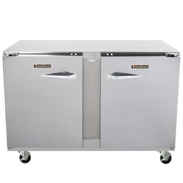 Traulsen ULT48LR-0300 48'' 2 Section Undercounter Freezer with 2 Left/Right Hinged Solid Doors and Front Breathing Compressor