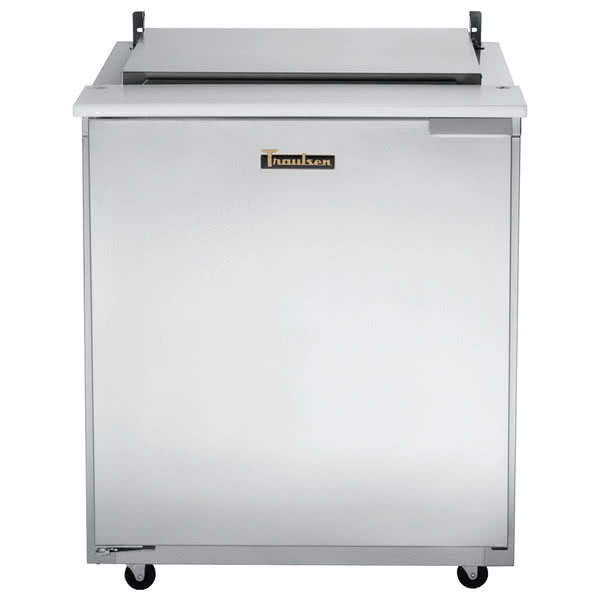 Traulsen UST3212-R-SB 32'' 1 Door Counter Height Refrigerated Sandwich / Salad Prep Table with Mega Top