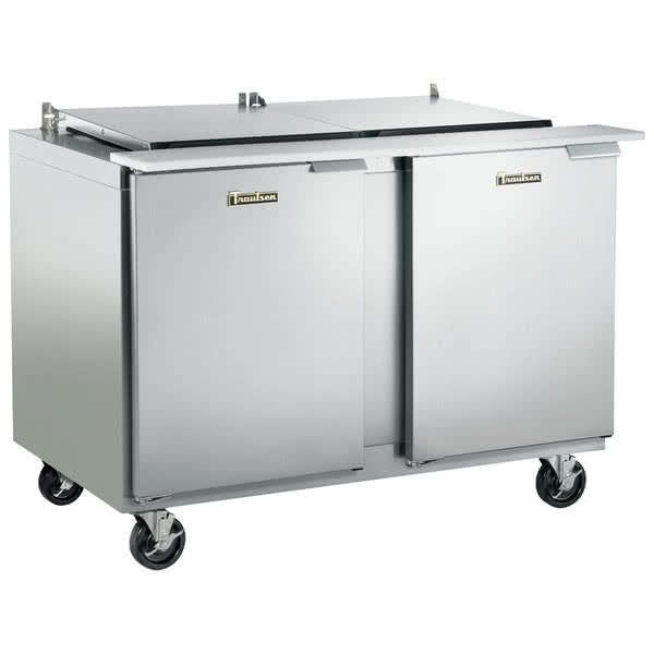 Traulsen Traulsen UST4818-LL 48'' 2 Door Counter Height Mega Top Refrigerated Sandwich / Salad Prep Table