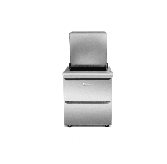 Traulsen UST7212-DD Dealer's Choice Compact Prep Table Refrigerator with low profile flat cover