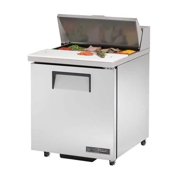 True TSSU-27-08-ADA-HC 27.63'' 1 Door ADA Height Refrigerated Sandwich / Salad Prep Table with Standard Top