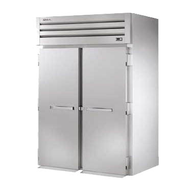 """True Mfg. - General Foodservice STG2HRT-2S-2S SPEC SERIES® 2 Section Solid Door Roll-Thru Heated Cabinet, Stainless Steel and Aluminum - 115/208-240 Volts, 68""""W x 37.5""""D x 83.75""""H"""