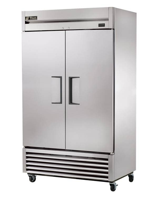 True T-43-HC 47'' 43 cu. ft. Bottom Mounted 2 Section Glass Door Reach-In Refrigerator
