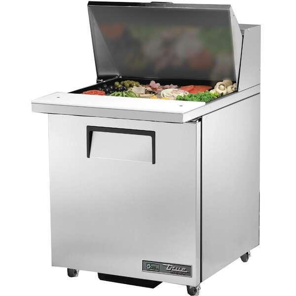True Mfg. - General Foodservice TSSU-27-12M-C-ADA-HC 27.63'' 1 Door Counter Height Mega Top Refrigerated Sandwich / Salad Prep Table