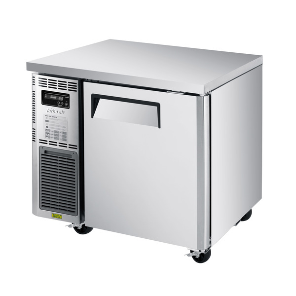 Turbo Air JUR-36S-N6 35.38'' 1 Section Undercounter Refrigerator with 1 Right Hinged Solid Door and Front Breathing Compressor