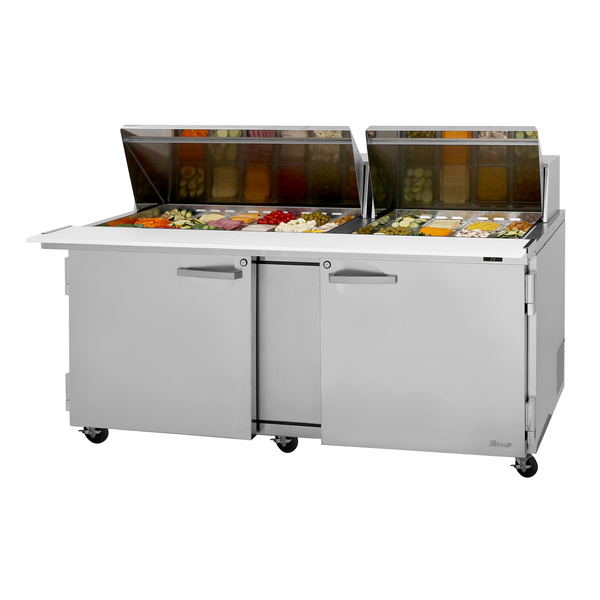 Turbo Air PST-72-30-N PRO Series Mega Top Sandwich/Salad Prep Table  two-section