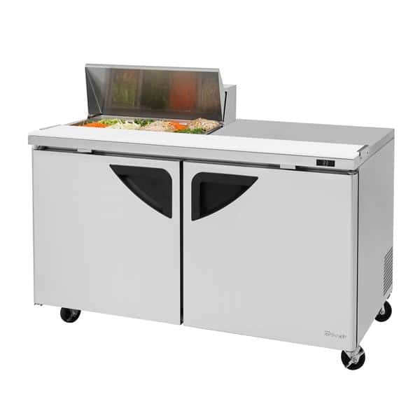 Turbo Air TST-60SD-08S-N 60.38'' 1 Door Counter Height Refrigerated Sandwich / Salad Prep Table with Standard Top