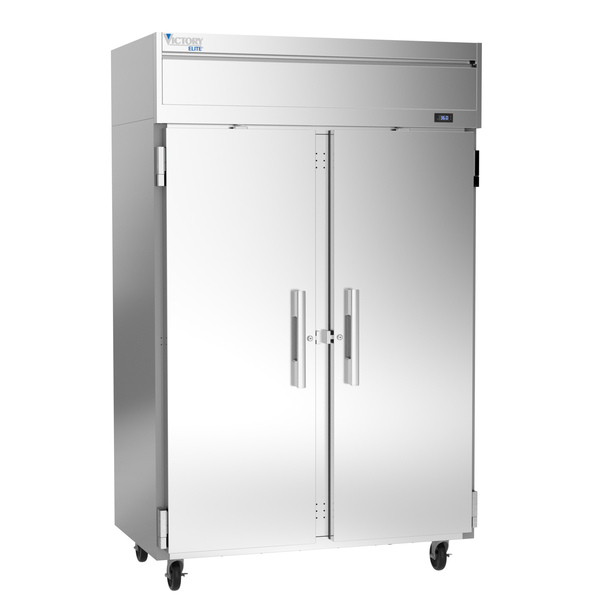 Victory Refrigeration VERSA-2D-SD-HC 52.00'' 46.88 cu. ft. Top Mounted 2 Section Solid Door Reach-In Refrigerator
