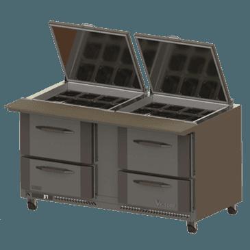 Victory Refrigeration Victory Refrigeration VSPD60-24B-4 UltraSpec Series Big Top Sandwich Prep Table