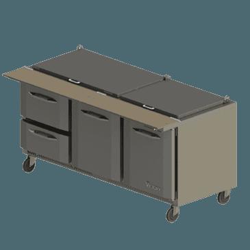 Victory Refrigeration Victory Refrigeration VSPD72-30B-4 UltraSpec Series Big Top Sandwich Prep Table