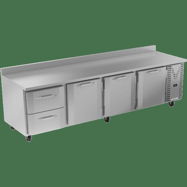Victory Refrigeration VWRD119HC-2 118.88'' 3 Door 2 Drawer Counter Height Worktop Refrigerator with Front Breathing Compressor - 40.1 cu. ft.