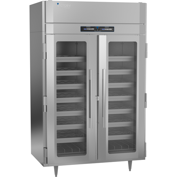 Victory Refrigeration WCDT-2D-S1-HC Dual Temperature Refrigerated Wine Cooler  two-section