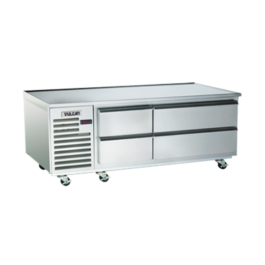 """Vulcan VR48 48"""" 2 Drawer Refrigerated Chef Base with Flat Top - 115 Volts"""