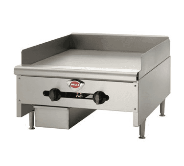 Wells HDG-6030G 60.13'' Stainless Steel Countertop Gas Griddle with Manual Controls - 150,000 BTU