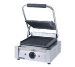"Admiral Craft SG-811 Sandwich / Panini Grill, Single, with 8-1/2"" x 9-1/4"" Grooved Cast Iron Cooking Surface - 120 Volts"