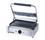 "Admiral Craft SG-811E/F Sandwich / Panini Grill, Single, with 13-1/4"" x 9-1/4"" Smooth Cast Iron Cooking Surface - 120 Volts"