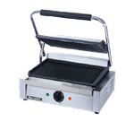 "Admiral Craft SG-811E Sandwich / Panini Grill, Single, with 13-1/4"" x 9-1/4"" Grooved Cast Iron Cooking Surface - 120 Volts"