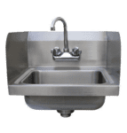 "Advance Tabco 7-PS-EC-SP-1X Special Value Hand Sink with 7-3/4"" side splashes"