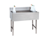"""Advance Tabco CRI-12-12-X Cocktail Unit, Stainless Steel with 35 lbs. Ice Capacity (2) Removable Plastic Bottle Racks - 12""""W x 21""""D"""