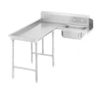Advance Tabco DTS-G70-48L Island-Soil Dishtable