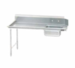 Advance Tabco DTS-S70-84L-X Special Value Straight-Soil Dishtable