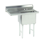 """Advance Tabco FS-1-1818-18L Commercial Sink, (1) One Compartment, 14 Gauge Stainless Steel Construction with Stainless Steel Legs and With Left-hand Drainboard - 38.5"""" W"""
