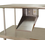Advance Tabco PRT-1 Printer Shelf with data port & electric outlet (to mount under another shelf)
