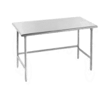 """Advance Tabco TGLG-489 Work Table, 14 Gauge Stainless Steel Top with Open Base, Galvanized Steel Legs and without Backsplash - 108""""W x 48""""D x 35.5""""H"""